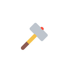 brick hammer icon flat element vector image