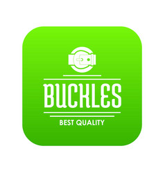 Buckle quality icon green vector