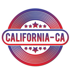 California round flat badge vector