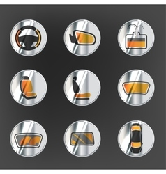 Car Heating System Set vector image