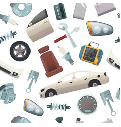 car tools pattern mechanic details of automobile vector image