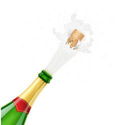 champagne bottle explode vector image