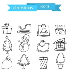 Christmas element icons set art vector