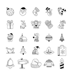 Christmas Hand Drawn Doodles 1 vector image