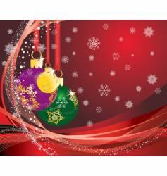 Christmas postcard vector image