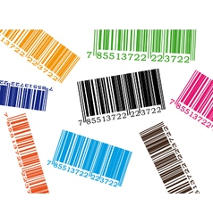 Color barcode vector