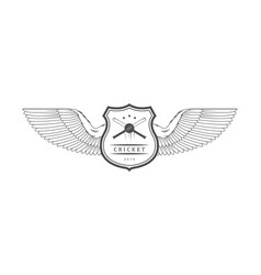cricket logotype vector image