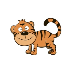 Cute little tiger vector image
