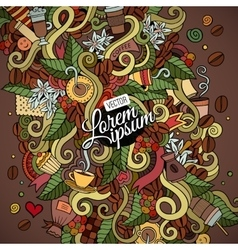 Doodles abstract decorative coffee background vector