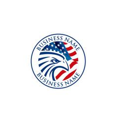 eagle logo design image vector image