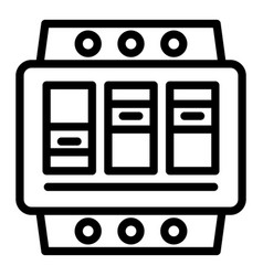 Electric switchboard icon outline style vector