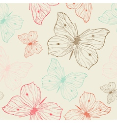 Elegant seamless pattern with hand drawn vector
