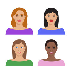 female avatar set vector image