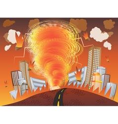 Fire tornado vector
