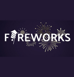 fireworks festive celebrating template vector image