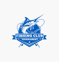 fishing fishing logo badge 2 vector image