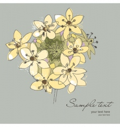 flowers for your greeting card vector image