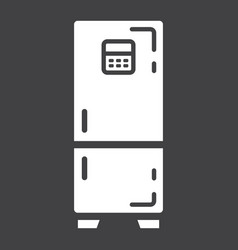fridge solid icon refrigerator and appliance vector image