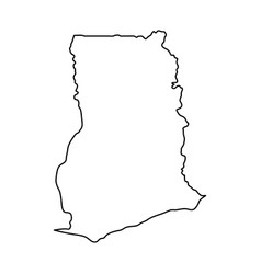 ghana map of black contour curves on white vector image
