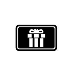 gift card present voucher flat icon vector image