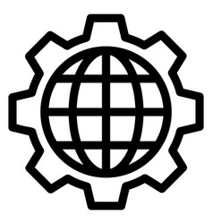 global setting vector image