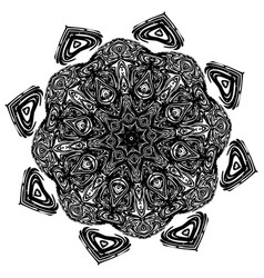 Grunge decorative mandala vector