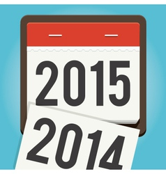happy new year 2015 calendar vector image
