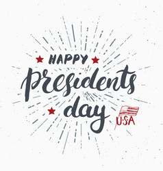 happy presidents day vintage usa greeting card vector image