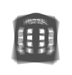 hotel sign gray icon shaked at white vector image