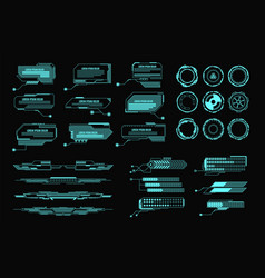 Hud elements futuristic virtual screen user vector