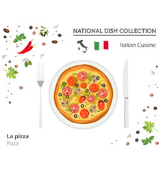 Italian cuisine european national dish collection vector
