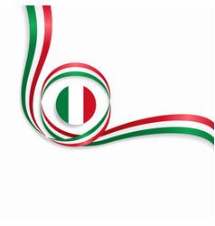 italian wavy flag background vector image
