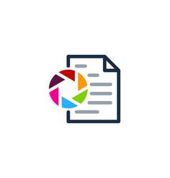 lens document logo icon design vector image