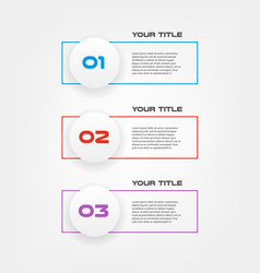 line text infographic ui kit templates for vector image