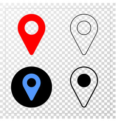 map pointer eps icon with contour version vector image