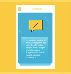 message not sent mobile vertical banner design vector image
