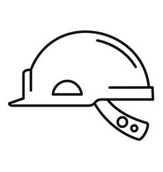 mine worker helmet icon outline style vector image