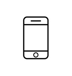 Mobile phone line icon black phone symbol vector