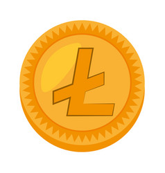 money litecoin golden icon vector image
