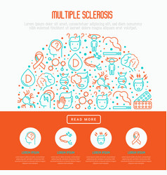 multiple sclerosis concept in half circle vector image