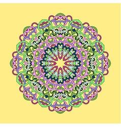 Ornamental circle mandala vector image