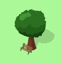 park bench with tree isometric vector image
