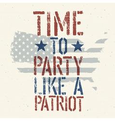 patriot party vector image