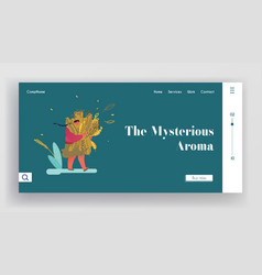 perfume creation website landing page young woman vector image