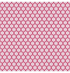 Pink seamless snowflakes pattern snow background vector