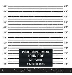 Police mugshot lineup board vector