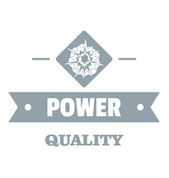 Power quality logo simple gray style vector