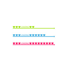 Progress status bar icon love loading collection vector