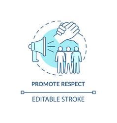 Promote respect concept icon vector