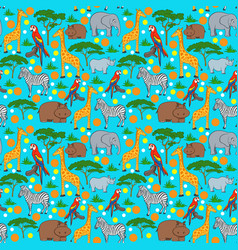 Seamles animal pattern vector